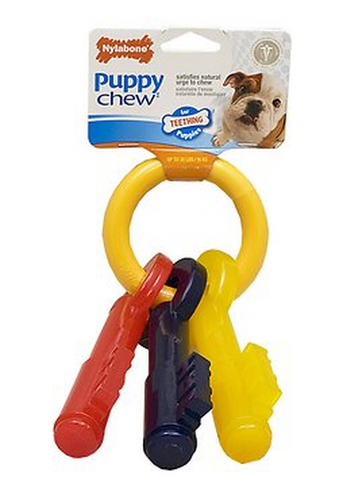 NYLABONE PUPPY CHEW TEETHING KEYS DOG TOY