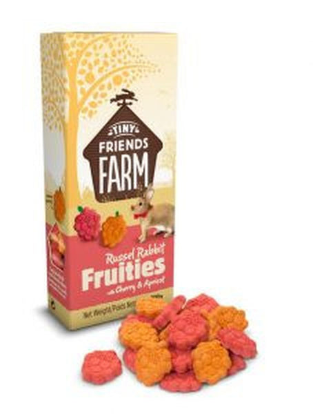 SUPREME TINY FRIENDS FARM RUSSEL RABBIT FRUITIES WITH CHERRY & APRICOT