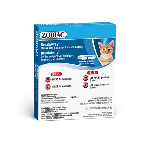 ZODIAC BREAKAWAY FLEA & TICK COLLAR FOR CATS AND KITTENS