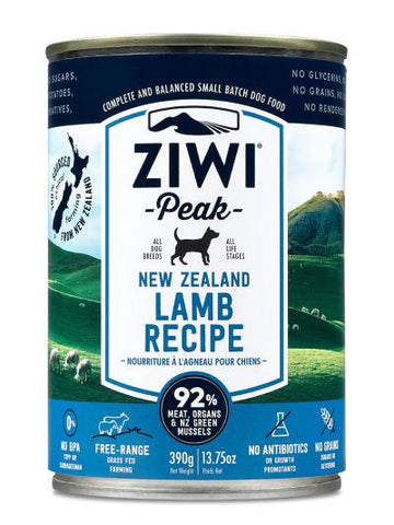 ZIWI PEAK CAN: LAMB RECIPE 12/CASE