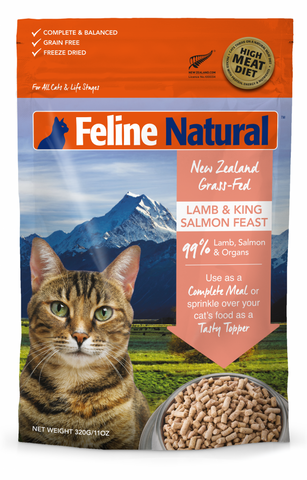FELINE NATURAL LAMB & SALMON FEAST FREEZE-DRIED RAW CAT FOOD
