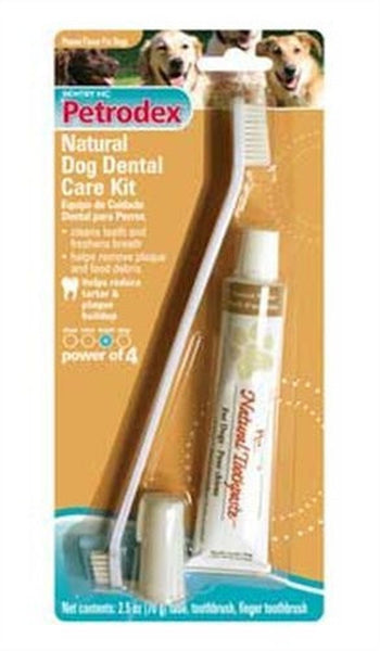 SENTRY PETRODEX NATURAL DOG DENTAL KIT PEANUT FLAVOR