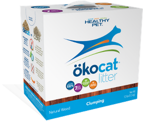 HEALTHY PET OKOCAT CLUMPING WOOD LITTER