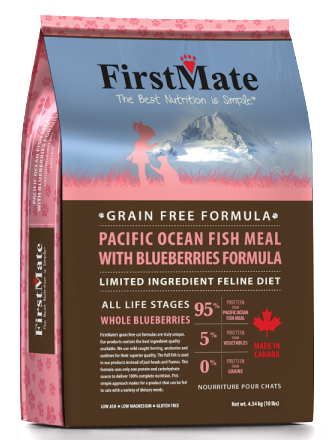 FIRSTMATE PACIFIC OCEAN FISH MEAL WITH BLUEBERRIES FORMULA CAT