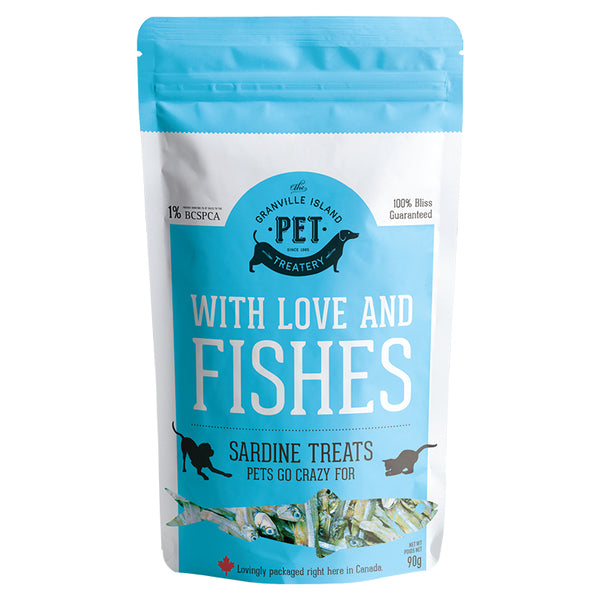 GRANVILLE ISLAND PET WITH LOVE & FISHES SARDINE TREATS