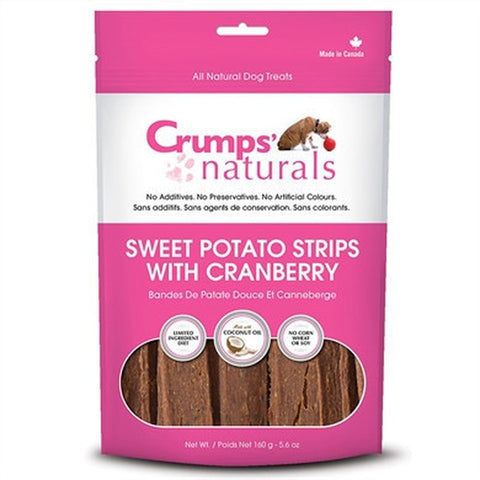 CRUMPS' NATURALS: SWEET POTATO STRIPS WITH CRANBERRY