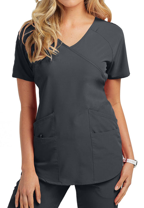 BWT008 Barco One Wellness Surplice 4-Pocket Scrub Tops
