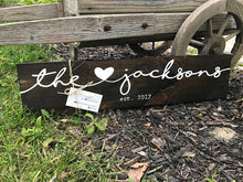 Family Name Sign + Heart - Dylan's Design Shop