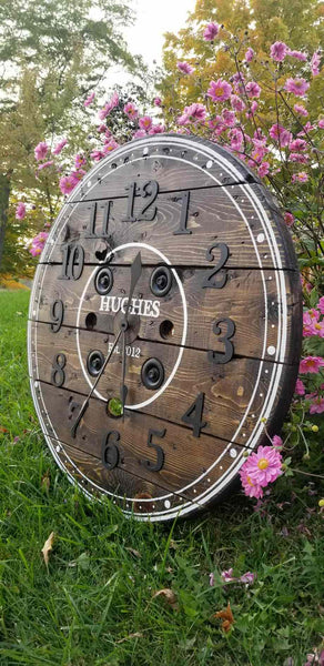 Wooden Spool Clock