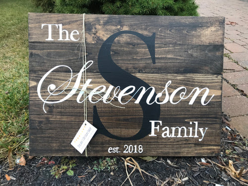 Pallet Style Family Name - Dylan's Design Shop