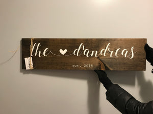 Family Name Sign with Heart