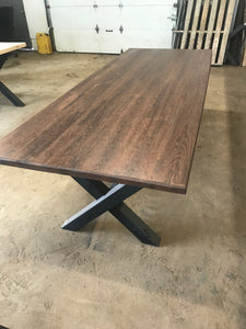 Harvest Table Medium Oak Finish - IN STOCK