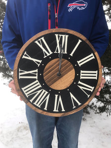 Brown and Black Wooden Clock - IN STOCK
