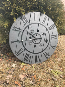 Charcoal and Black Clock - IN STOCK