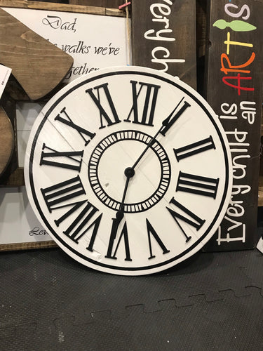 White and Black Clock - IN STOCK