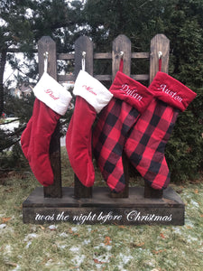 Christmas Wooden Stocking Fence