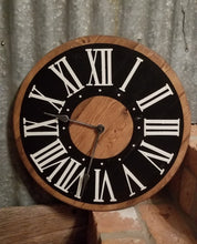 Load image into Gallery viewer, Brown and Black Wooden Clock - IN STOCK