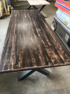 Harvest Table Rustic Oak Finish - IN STOCK