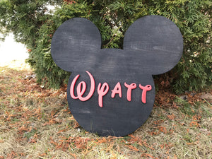 Animal and Name Cut Out Sign