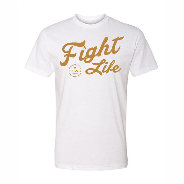 FTWR® Fight Life White/Gold Chrome Tee
