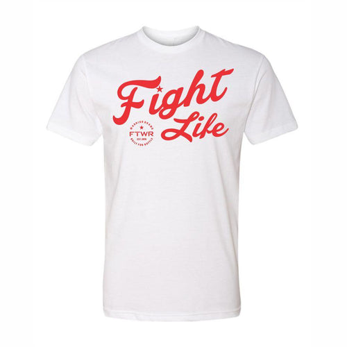 FTWR® Fight Life White/Red Chrome Tee