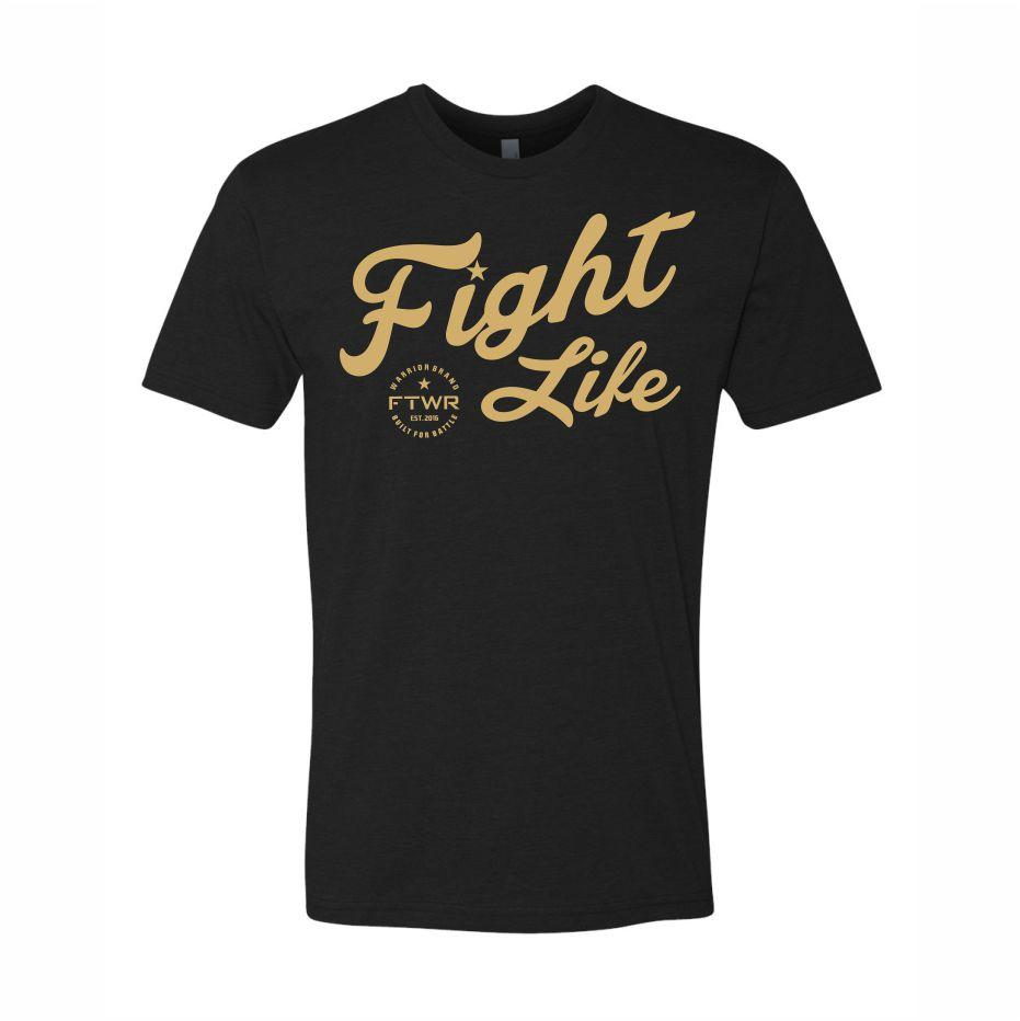 FTWR® Fight Life Black/Gold Chrome Tee