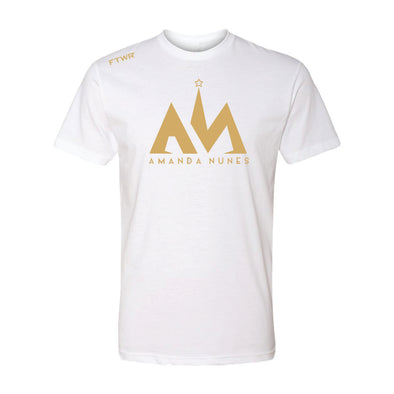 Amanda Nunes White/Gold Chrome Tee