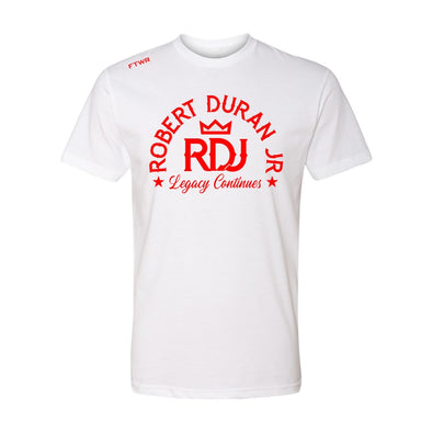 Robert Duran Jr. White/Red Tee