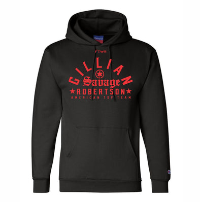 Gillian Robertson Original Champion® Black/Red Hoodie