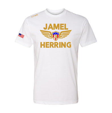 Jamel Herring White Tee