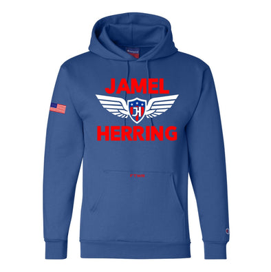 Jamel Herring Original Champion® Blue Hoodie