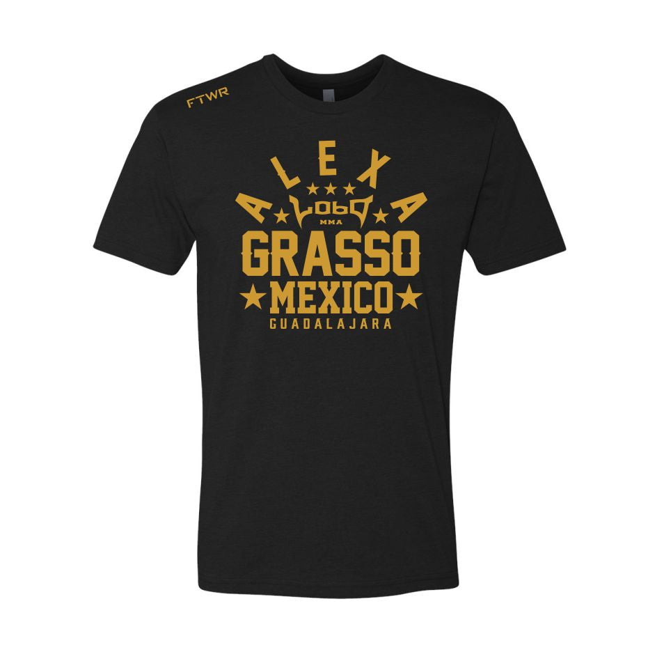 Alexa Grasso Black/Gold Chrome Tee