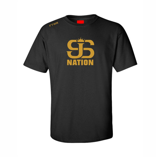 Joey Spencer JS Nation Black/Varsity Gold Tee