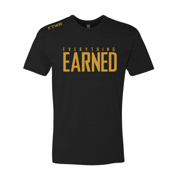 FTWR® Everything Earned Black/Gold Chrome Tee