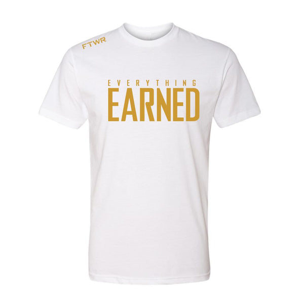 FTWR® Everything Earned White/Gold Tee