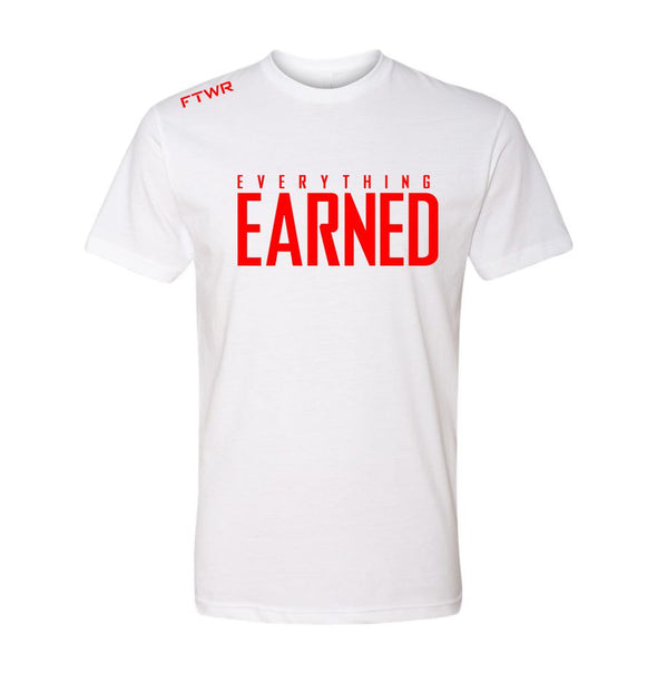 FTWR® Everything Earned White/Red Chrome Tee