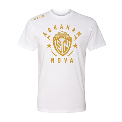 Abraham Super Nova White/Gold Chrome Tee