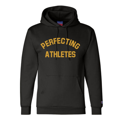 Perfecting Athletes Champion® Black/Gold Hoodie