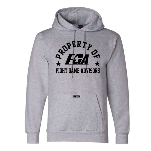 Property of Fight Game Advisors Champion® Grey Hoodie