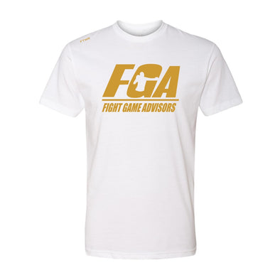 Fight Game Advisors White Tee