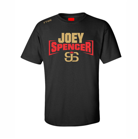 Joey Spencer Fight Night Black/Gold & Red Chrome Tee