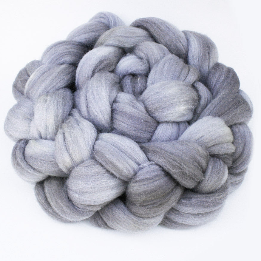 semi-solid hand-dyed spinning fiber, 4 oz,