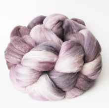 "semi-solid hand-dyed spinning fiber, 4 oz, ""Oyster"""