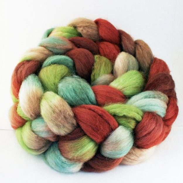 Gradient hand-dyed spinning fiber, 4 oz,