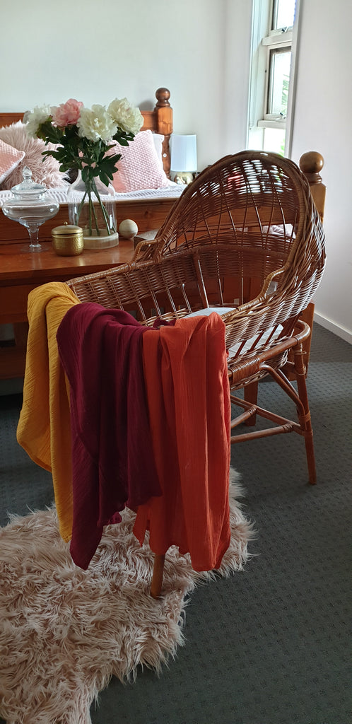 Cotton Wrap Blanket WINE