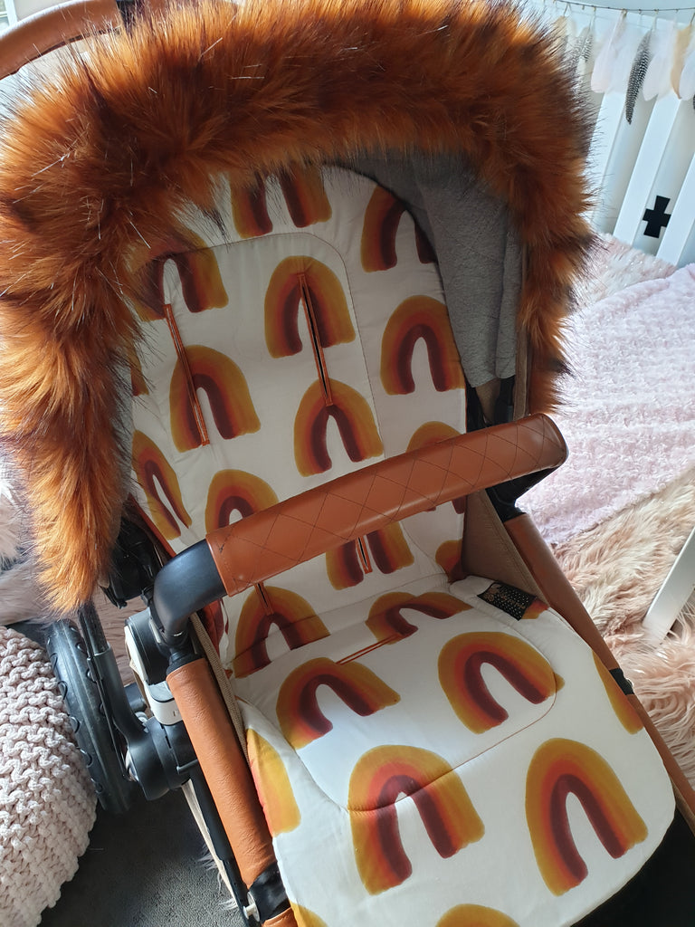 Pram Liner CUSTOM MADE *exclusive* AUTUMN RAINBOW