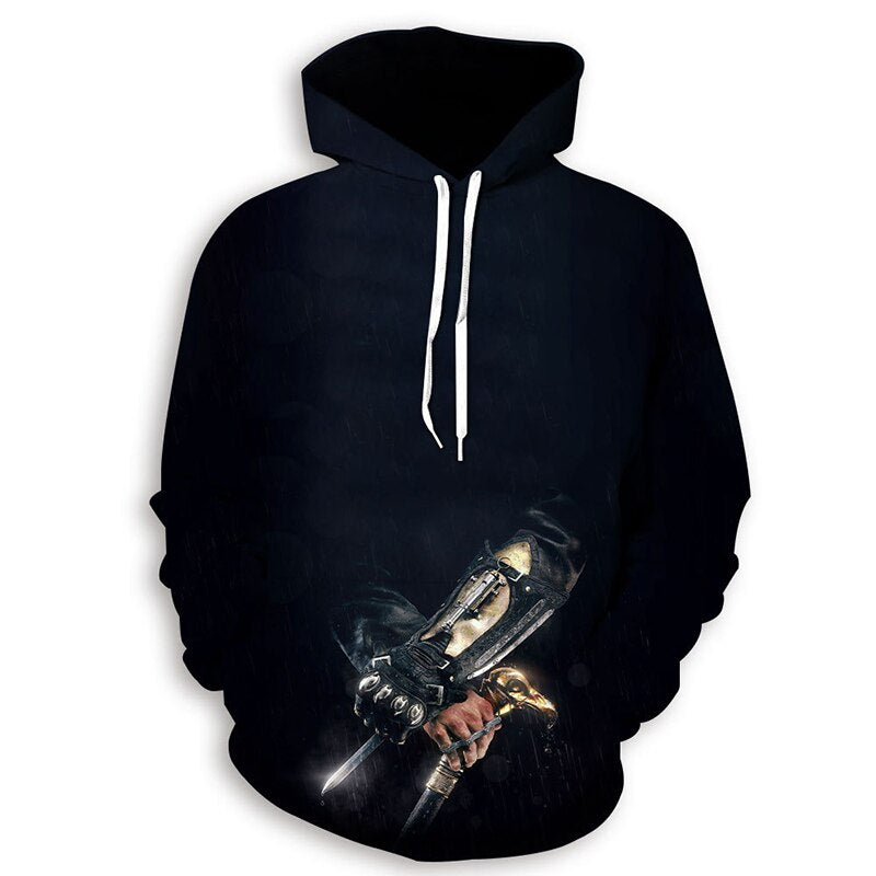 Assassins Creed Hoodie Plus Size 3D Characters Summer Stained Print