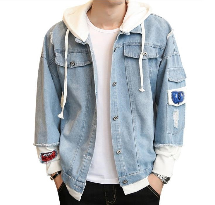 Jean Jackets With Hoodies One Piece Hoodie Denim Jacket Unisex Clothing
