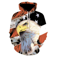American Eagle Hoodies Flag Eagle Street Hoodie 2020 Casual Tops P009