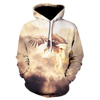 American Eagle Hoodies Flag Eagle Street Hoodie 2020 Casual Tops P012